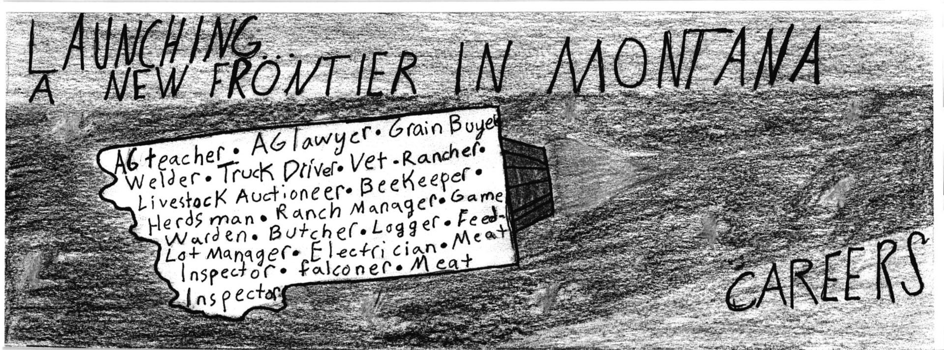 Todd Dixon, a sixth grader at Riverview School took first with his drawing of Montana.SUBMITTED PHOTO