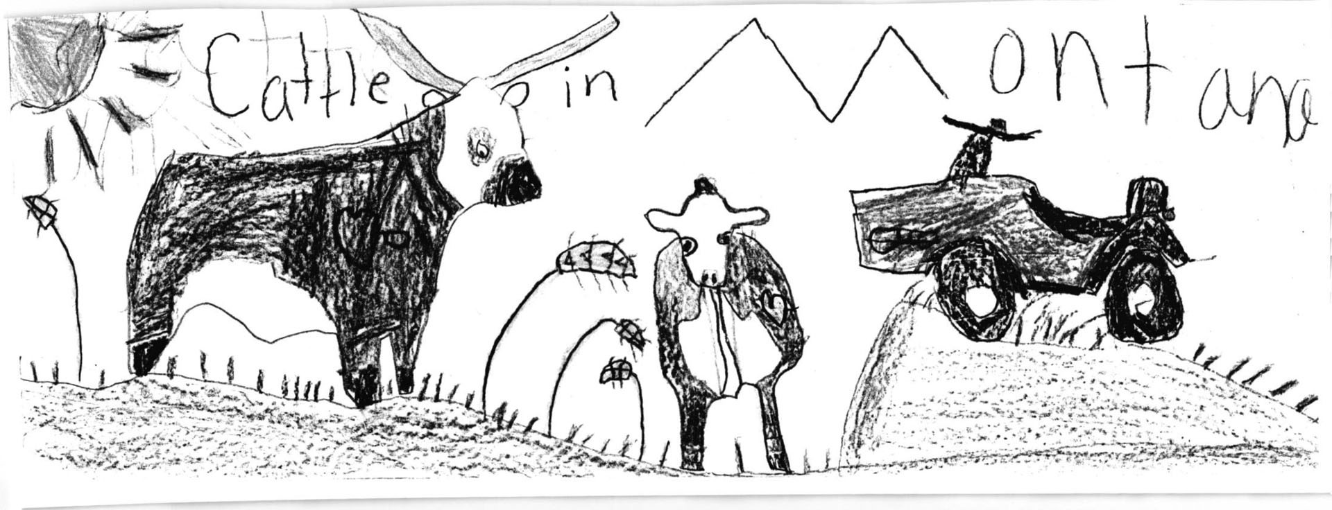 Third grader, Trent Penrod of Kircher School, drew detailed cattle and a tractor to win for his grade.SUBMITTED PHOTO