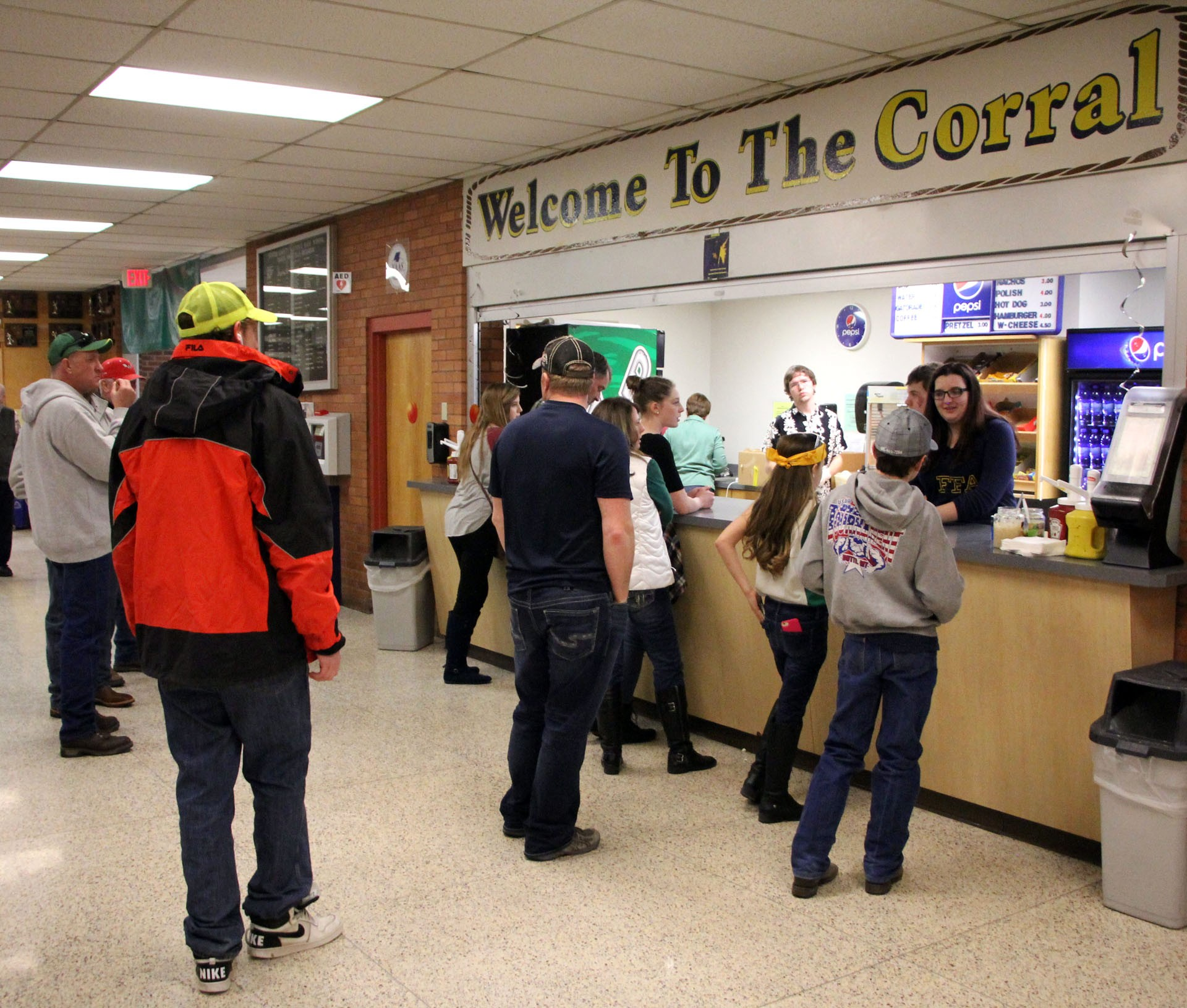The Welcome to the Corral concession stand is being run by FFA students, who are earning funds for their organization.STAR PHOTO/Sharon Moore
