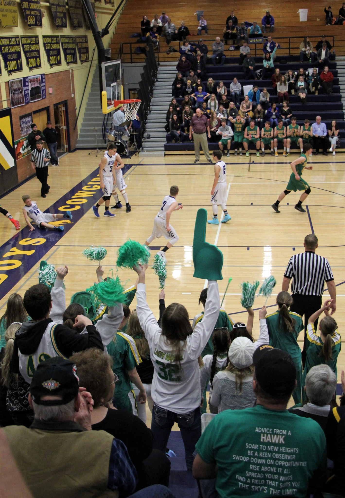 A lot of fans proclaimed their team to be No. 1, but that won't be known until Saturday when the championship games are scheduled at 6 and 8 p.m. at Custer County District High School in Miles City. The top four teams in both the boys and girls divisions advance to the Southern C tournament — the boys next week in Laurel and the girls here in Miles City from March 1-3.STAR PHOTO/Sharon Moore